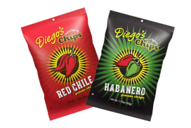 Some chips claim to be spicy, but may leave you feeling, well, underwhelmed. ¡Rico, Suave!  Meet Diego's Chips™: the bold, spicy snack that's positively brimming with the authentic flavors of the Southwest.